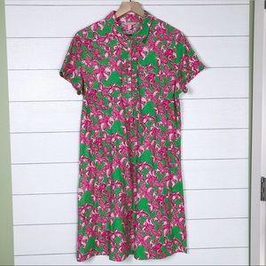 Lilly Pulitzer • Carolyn Dress XL Pink Green
